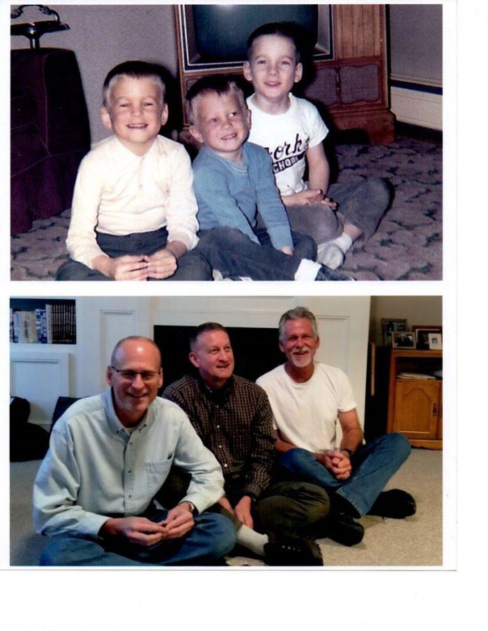childhood photo recreated