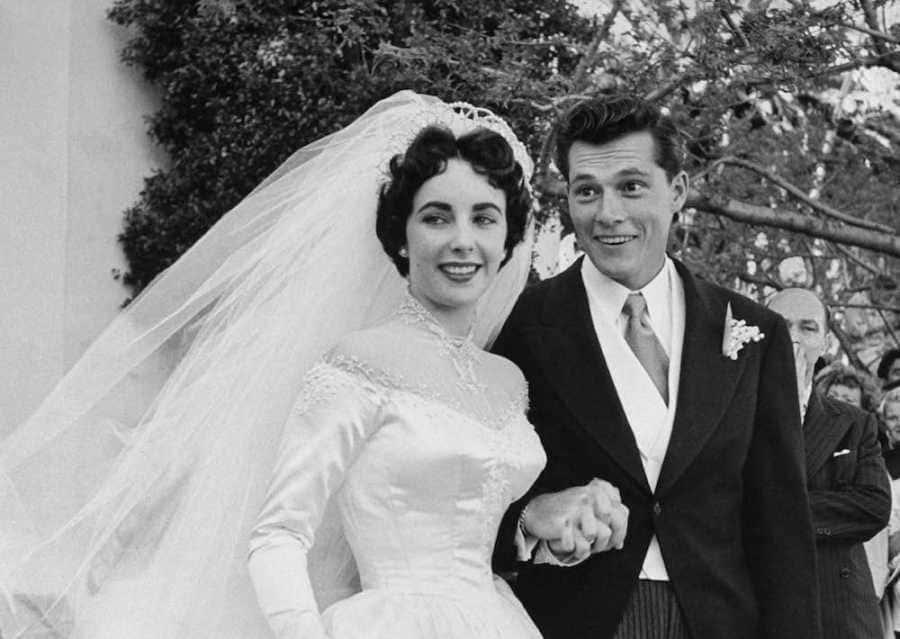 photo of Elizabeth Taylor and Conrad Hilton