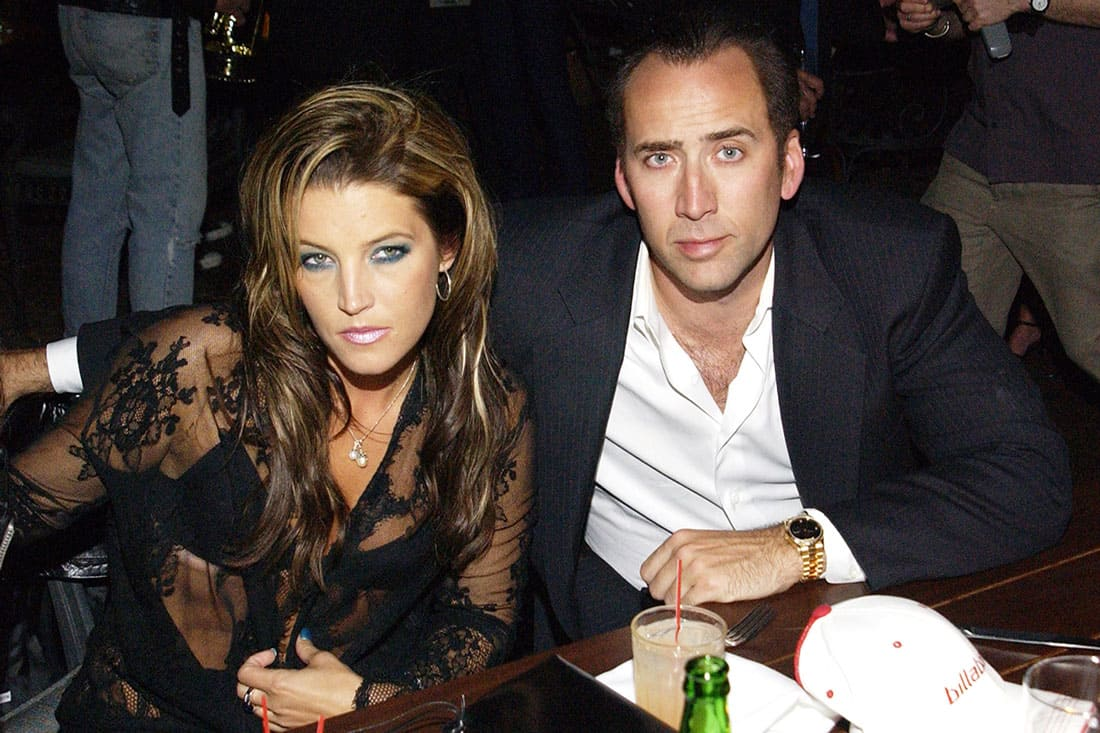 photo of Nicolas Cage and Lisa Marie Presley