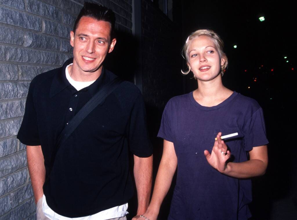 photo of Drew Barrymore and Jeremy Thomas