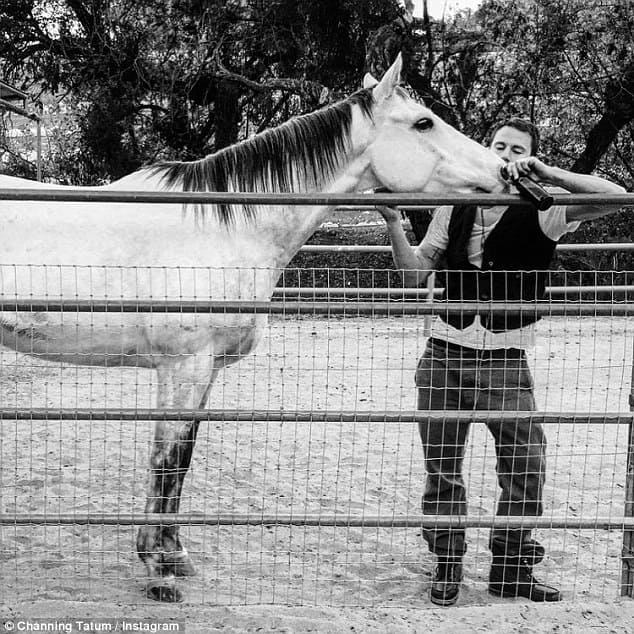 Channing Tatum and his horse