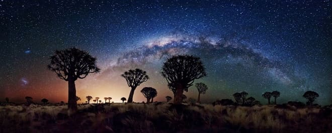 African Skies, the stars shine so brightly it almost looks unreal