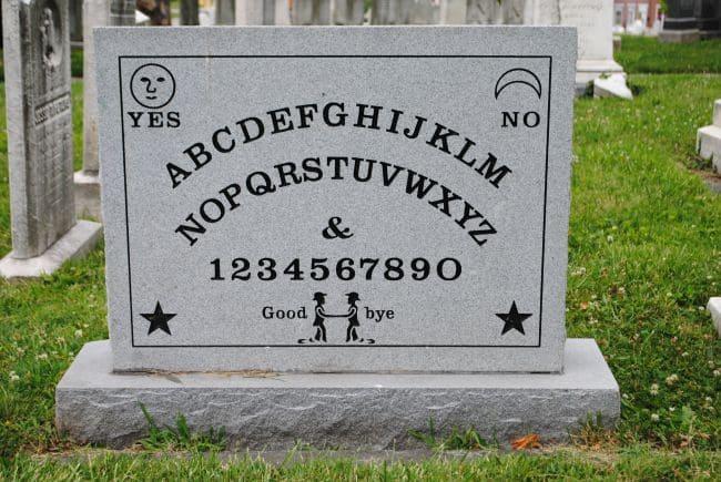 Ouija Board Headstone