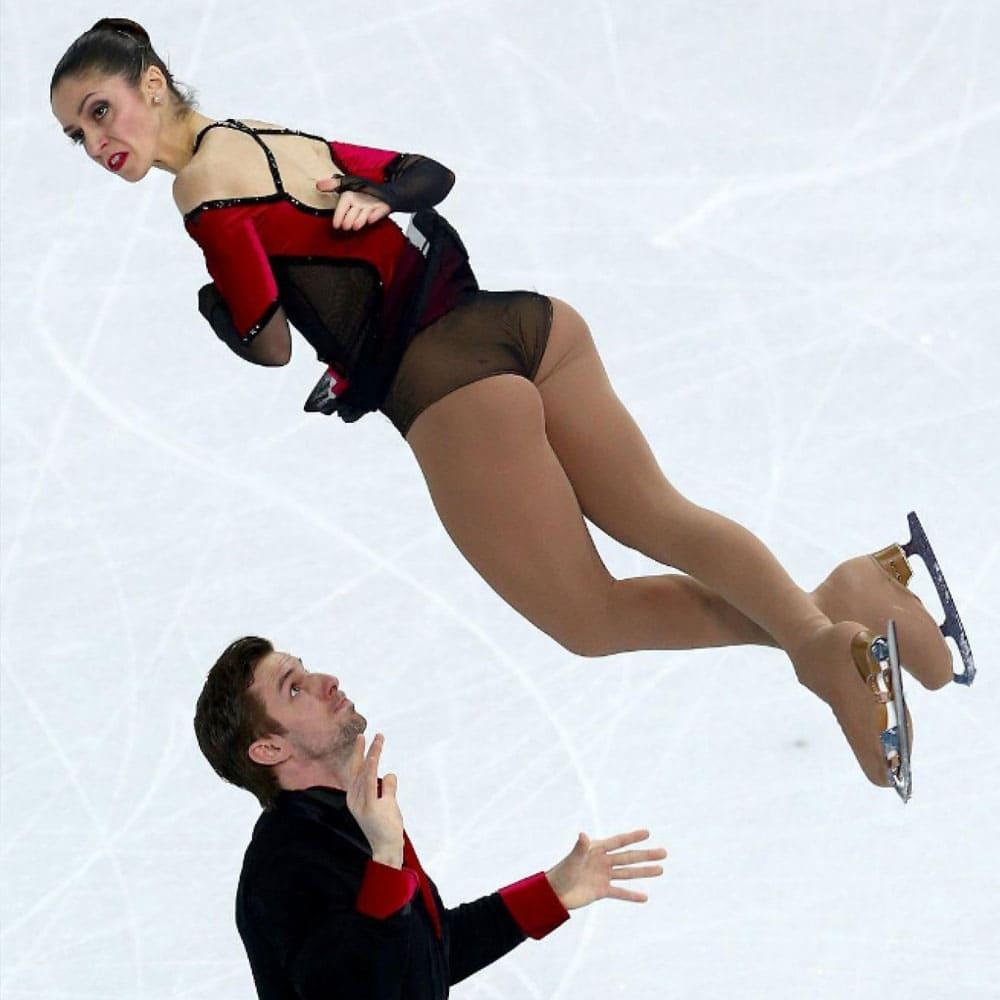 Stefania Berton and Ondrej Hotarek on the ice