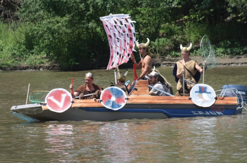 A Viking themed boat
