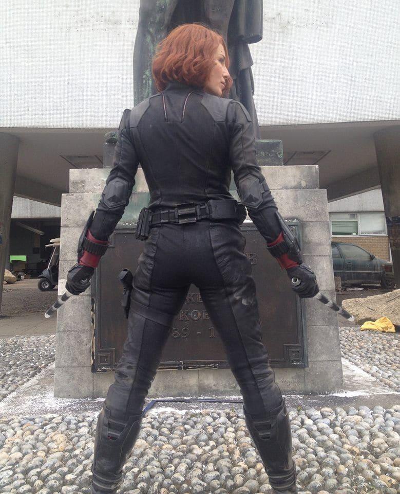 Heidi Moneymaker doubling for Scarlett Johansson