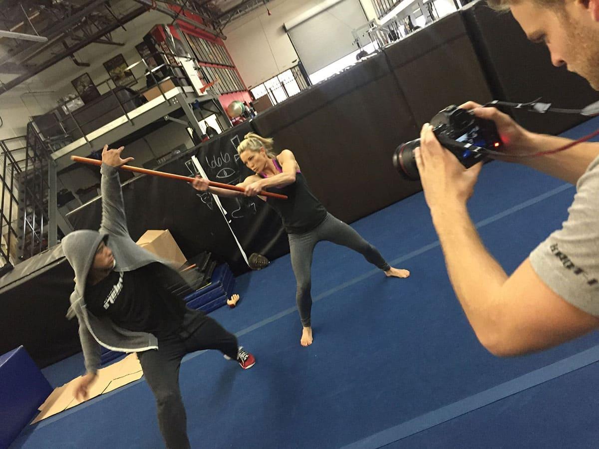 Stuntwoman training