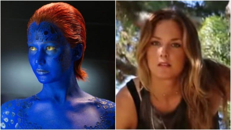 Blue Jennifer Lawrence and her stunt double