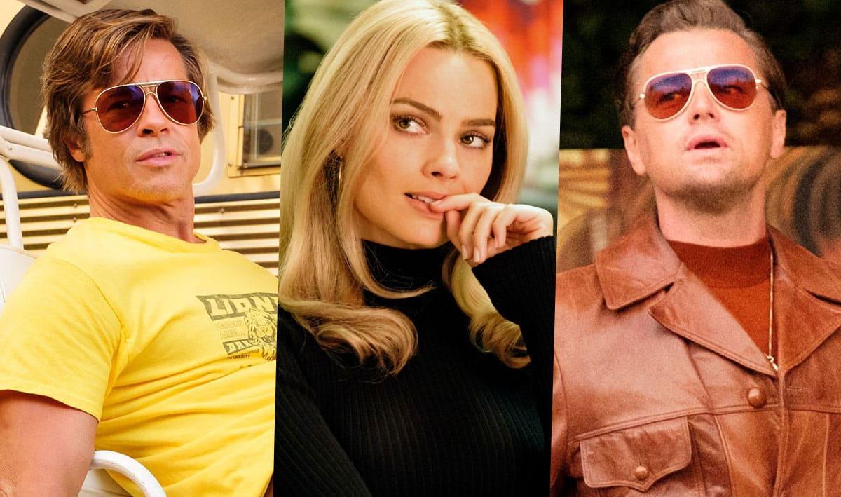 Brad Pitt, Margot Robbie, Leonardo DiCaprio
