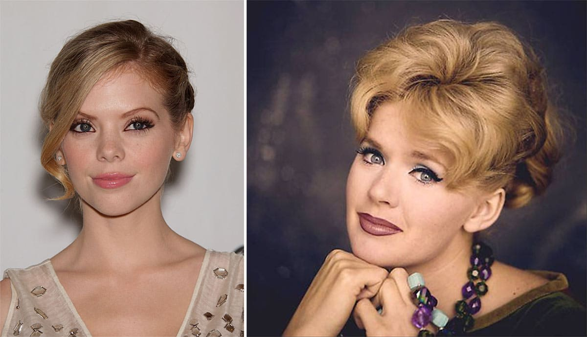 Dreama Walker and Connie Stevens