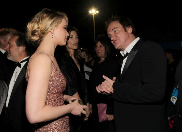 Jennifer Lawrence and Quentin Tarantino