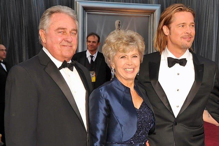 Brad Pitt and his parents