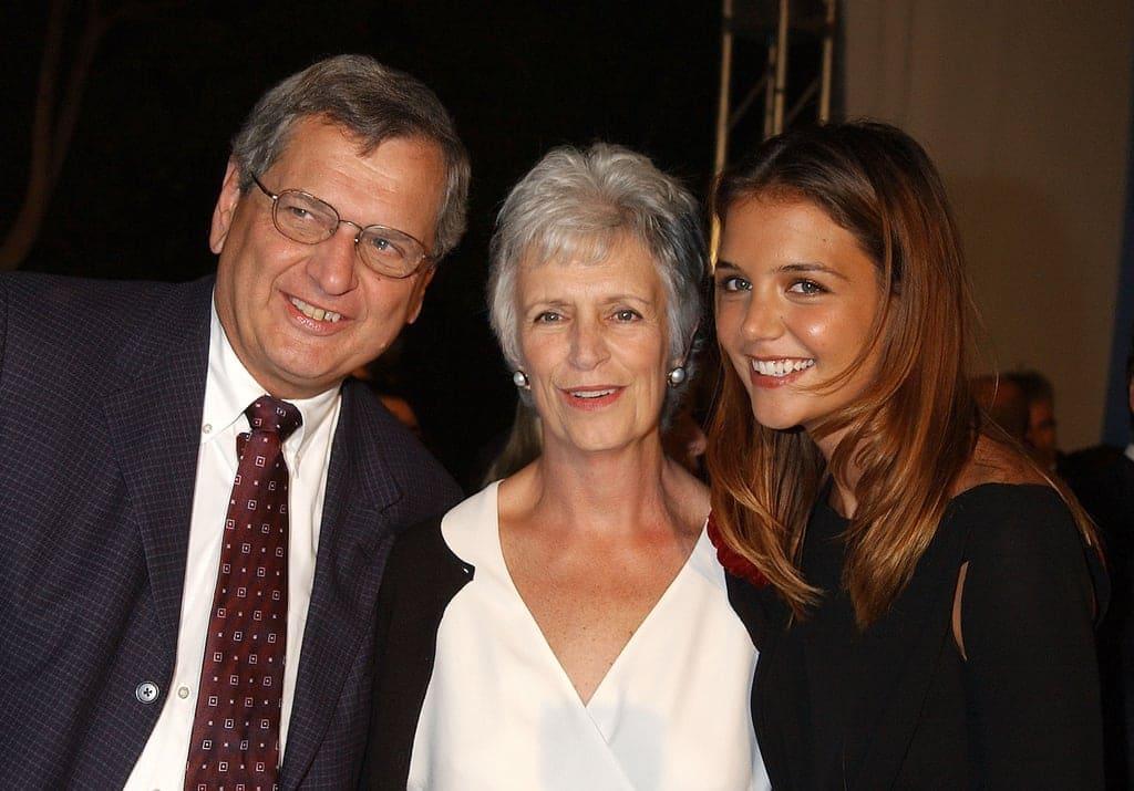 Katie Holmes and her parents