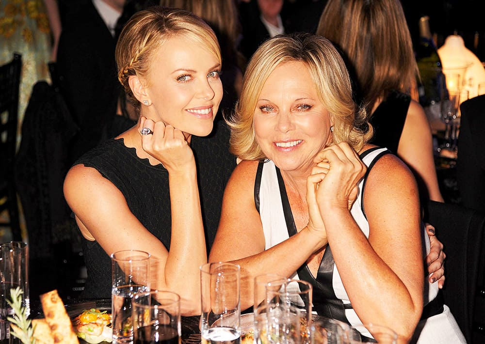 Charlize Theron and her mother