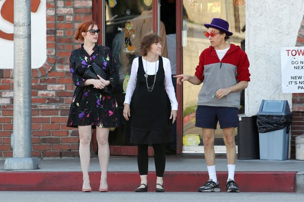 Christina Hendricks and her parents