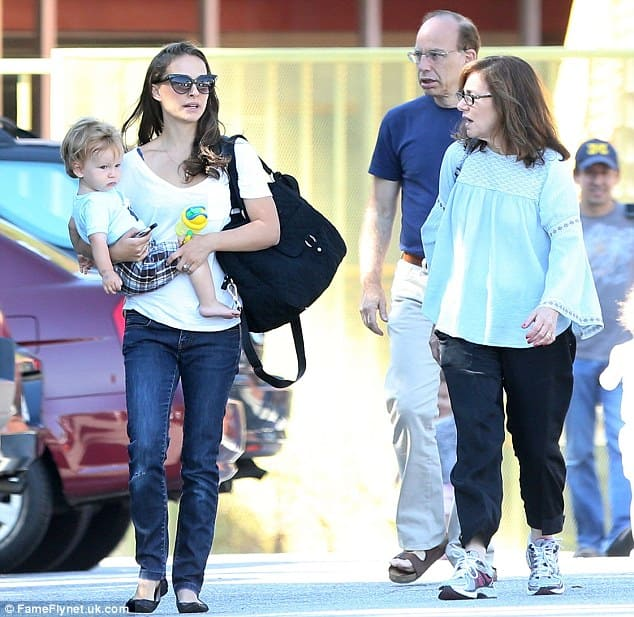 Natalie Portman and her parents