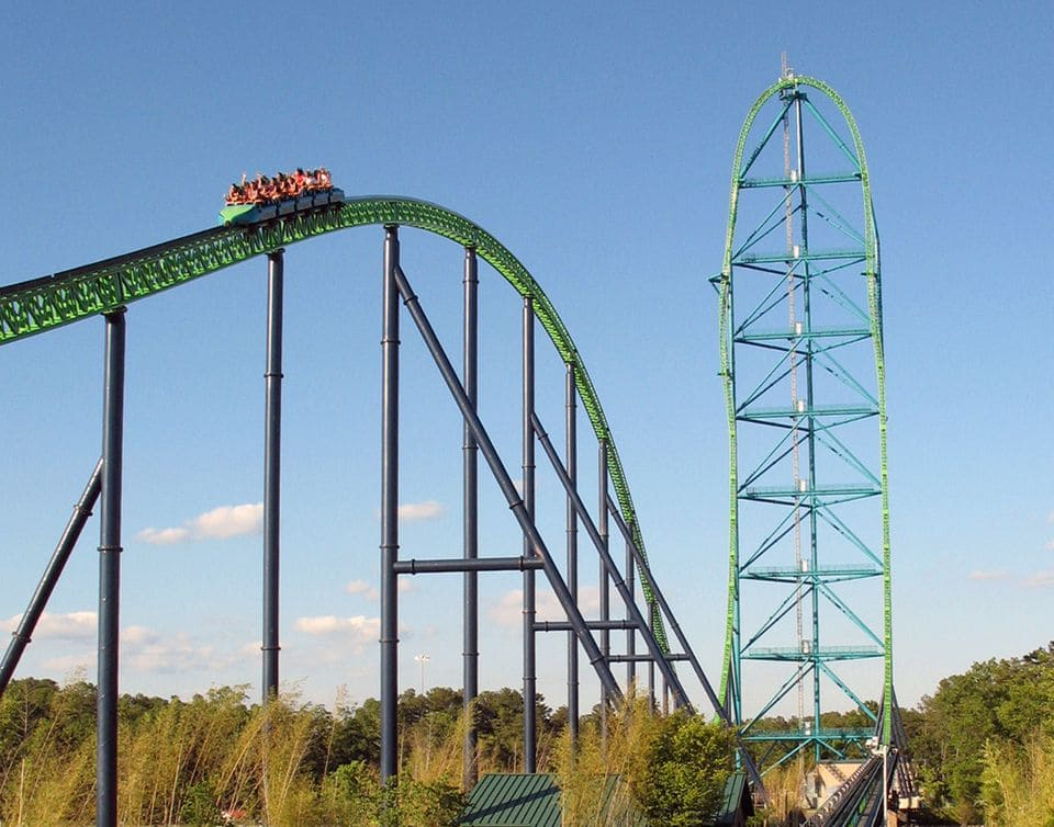 Kingda Ka roller-coaster in Six Flags