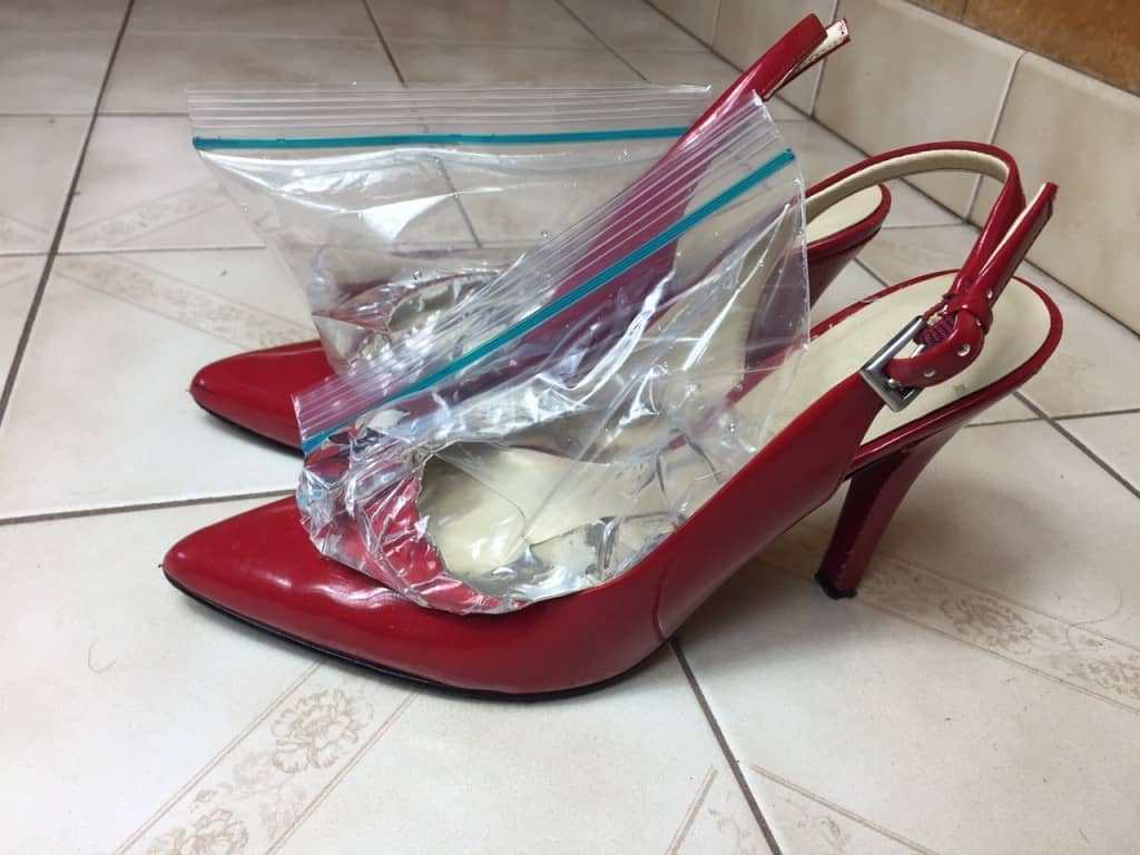 Shoes with Ziplock bags