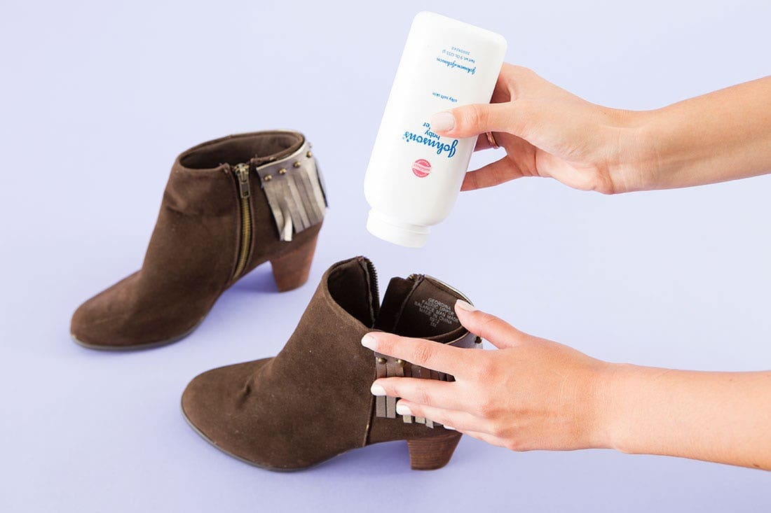 Shoe and baby powder