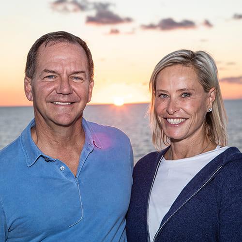 Sonia Klein and Paul Tudor Jones