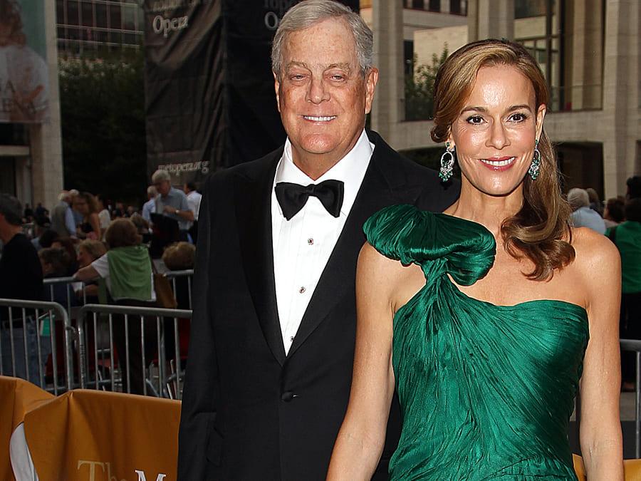 Julia Koch and David Koch