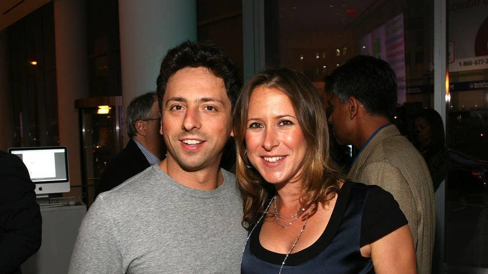 Anne Wojcicki and Sergey Brin