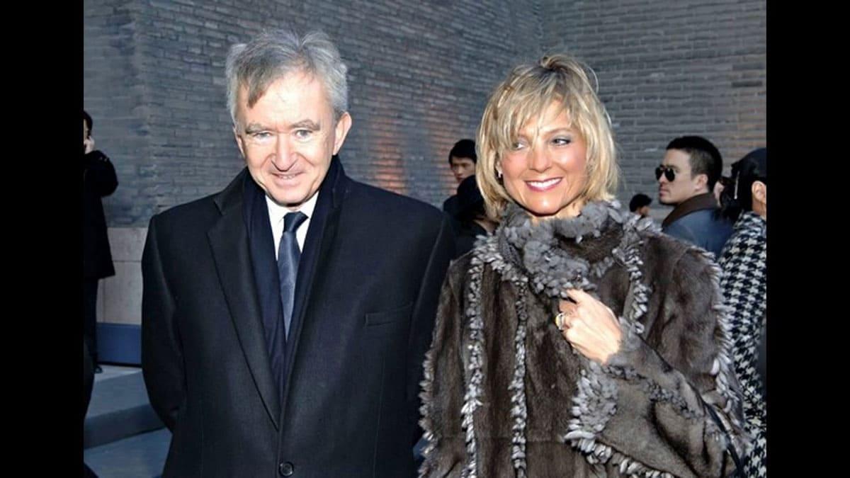 Helene Mercier and Bernard Arnault