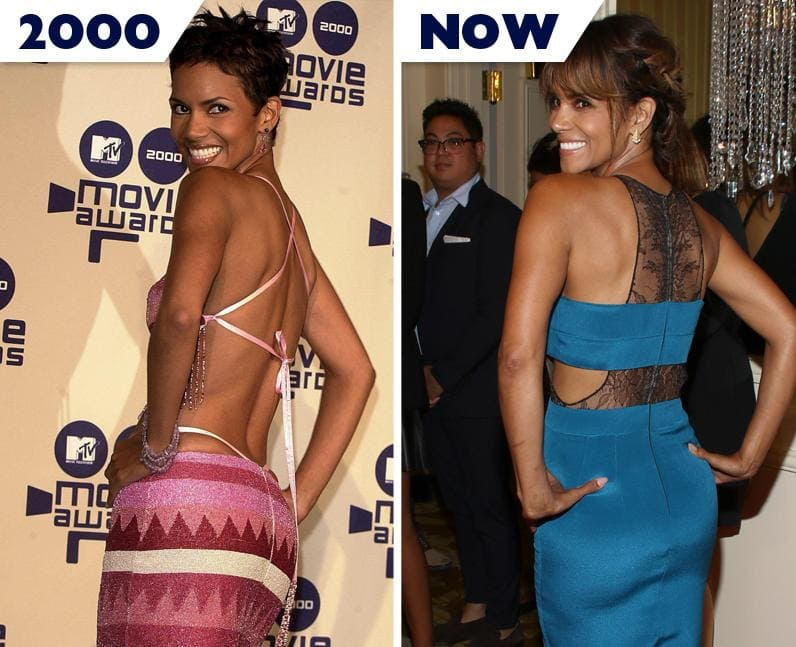 Halle Barry then and now