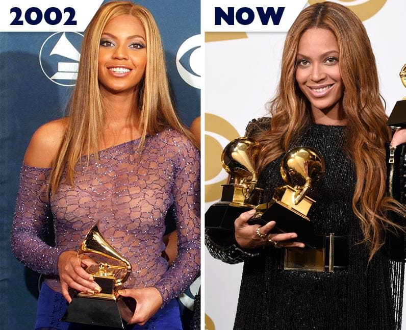 Beyoncé then and now