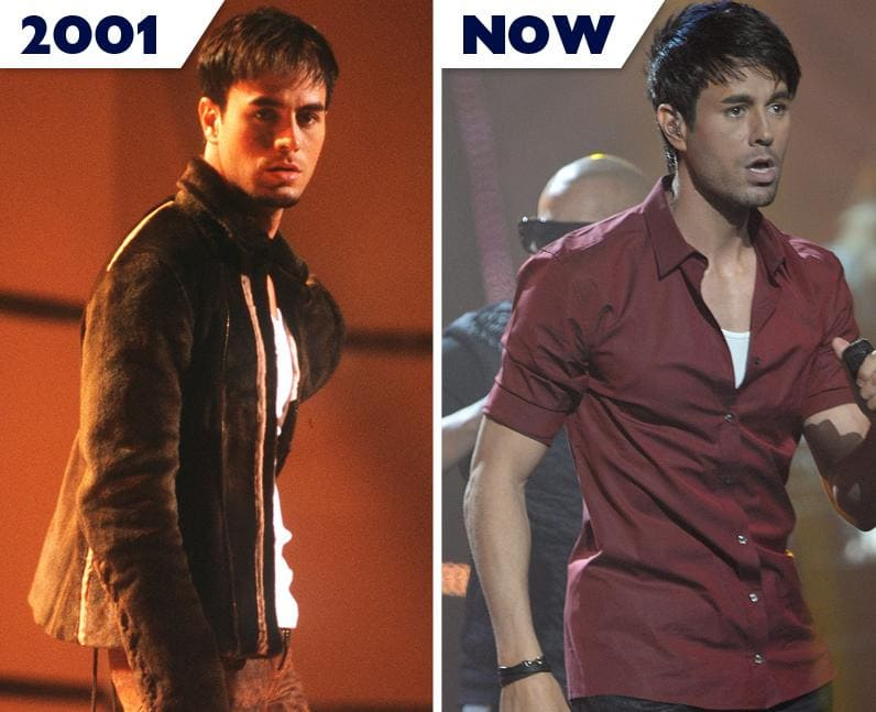 Enrique Iglesias then and now