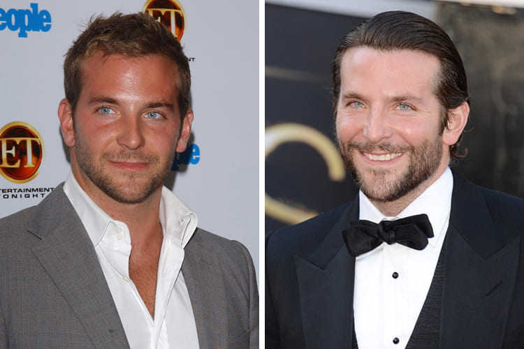 Bradley Cooper then and now