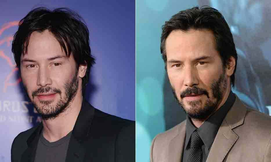 Keanu Reeves then and now