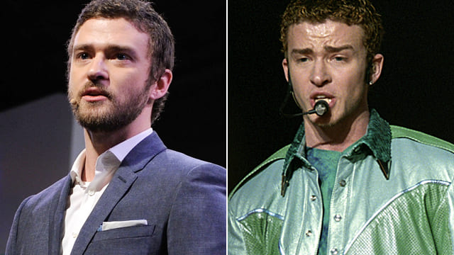 Justin Timberlake then and now