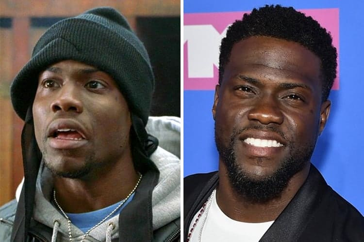 Kevin Hart then and now