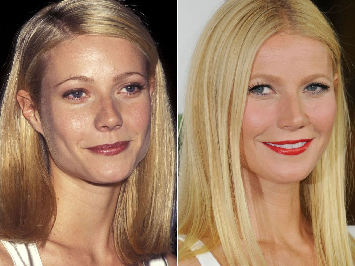 Gwyneth Paltrow then and now