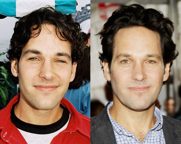 Paul Rudd then and now