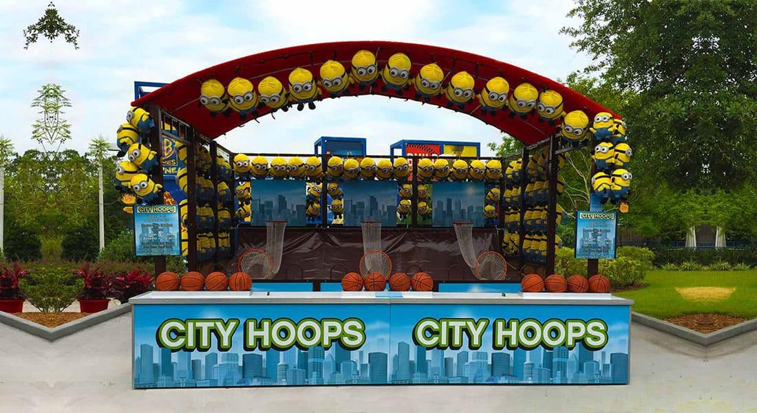 The basketball hoops
