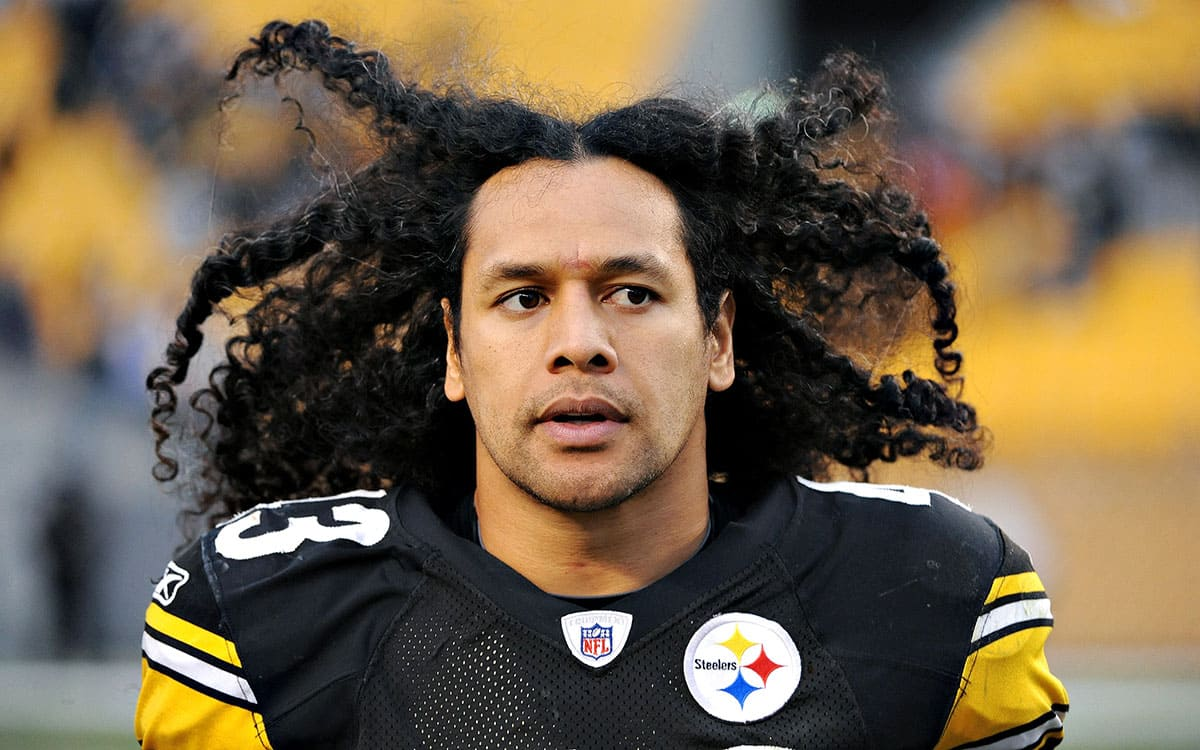 Troy Polamalu playing football
