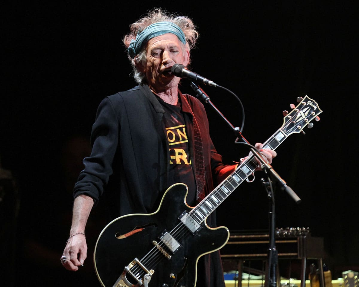 Keith Richards performing