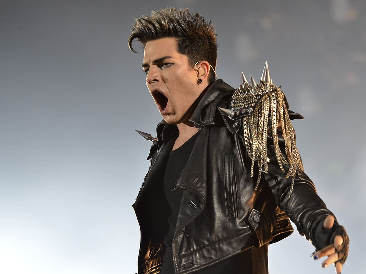 Adam Lambert performing