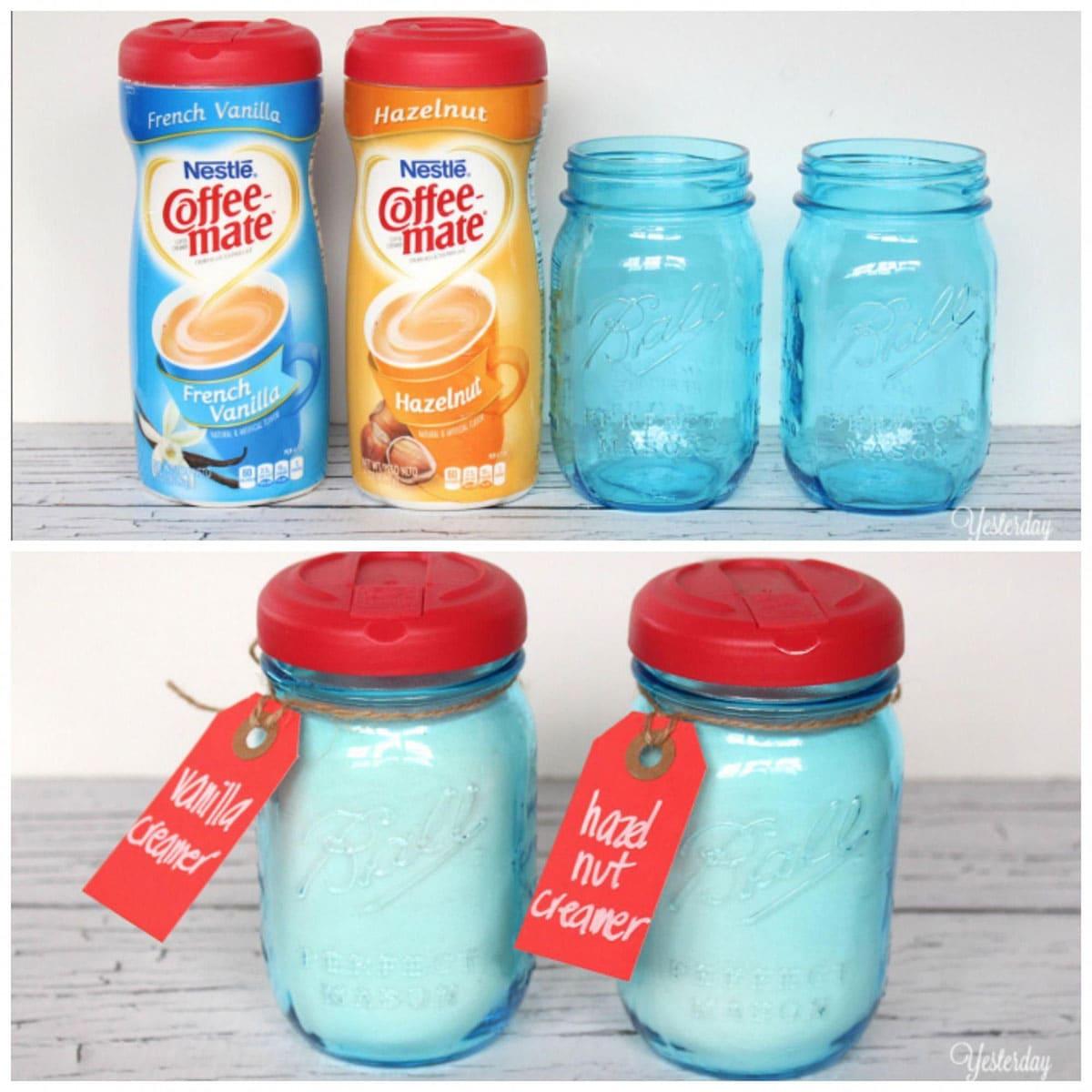 Coffee-mate lids for Mason jars