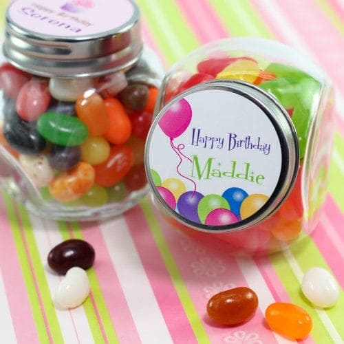 Mason jar filled with candy
