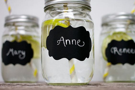 Mason jars with chalk paint