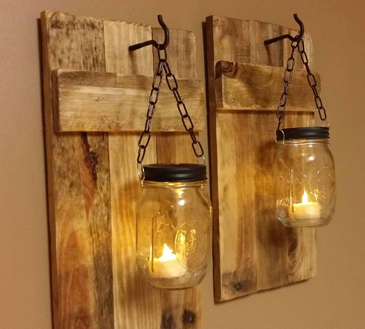 Mason jar rustic lights
