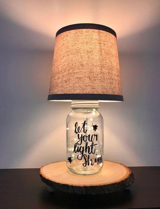 Mason jar lamp base