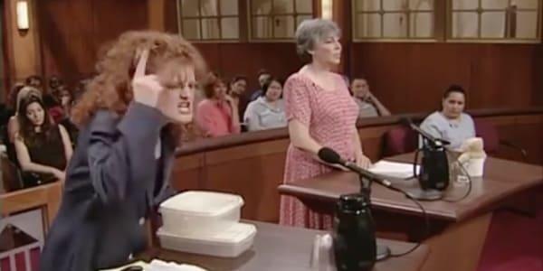Judge Judy Tupperware lady