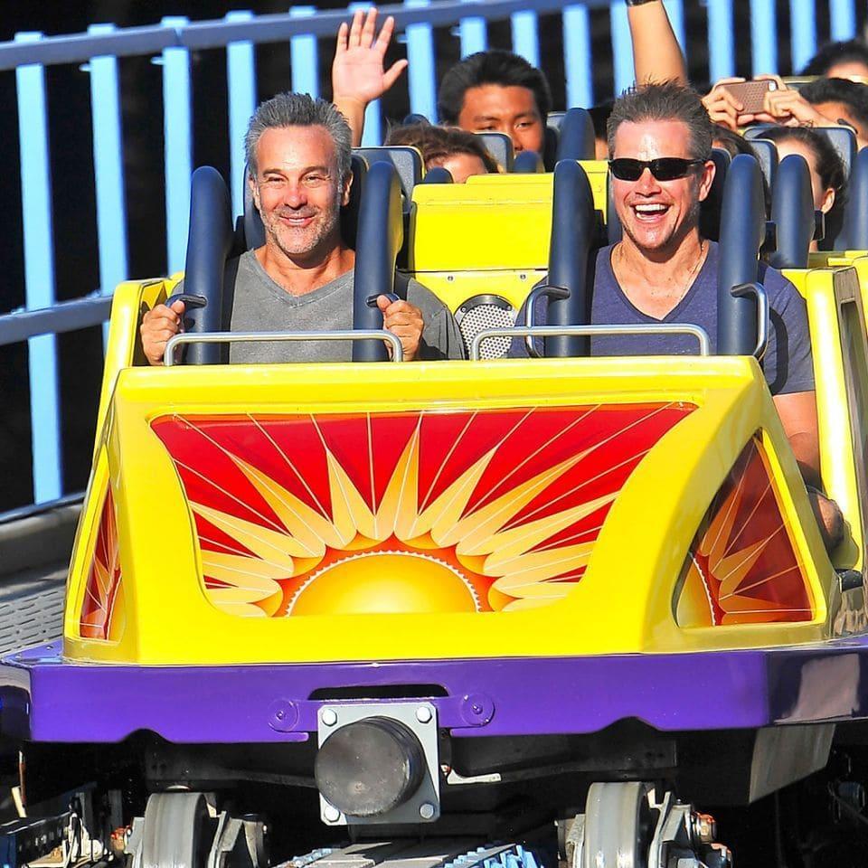 Matt Damon on a roller coaster