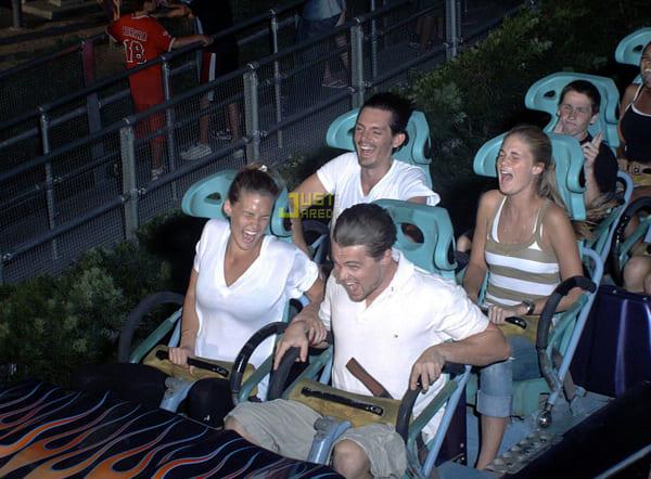 Leonardo DiCaprio on a roller coaster