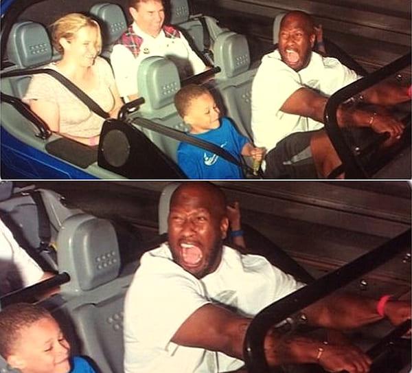 James Harrison on a roller coaster