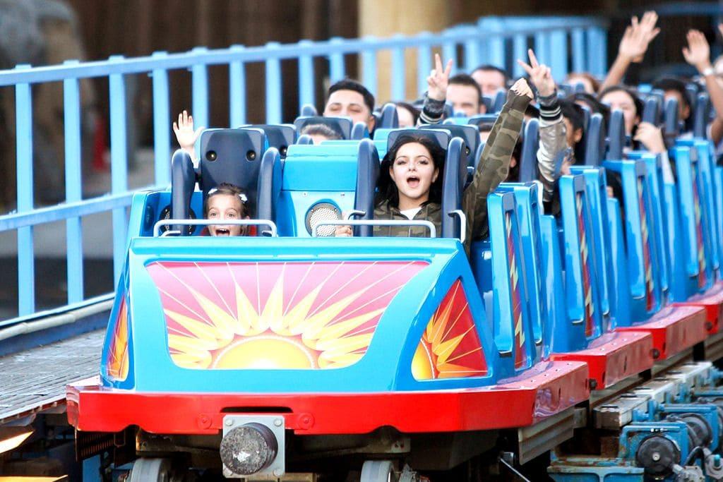 Ariel Winter on a roller coaster